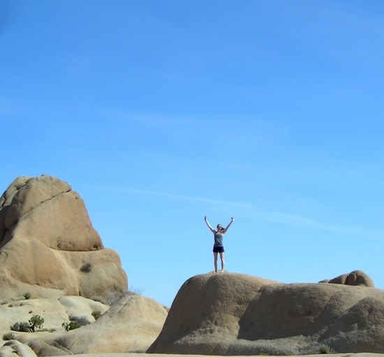 My friend Sarah on our hike through Joshua Tree National Park in 2012.