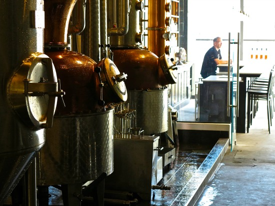 Located on Powell Street, Vancouver's Odd Society Spirits has a fun tasting room.