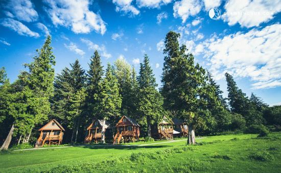 The best ski town Glamping cabins