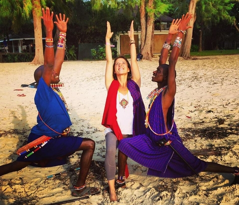Yogi Grace Dubery travels to Africa to teach yoga