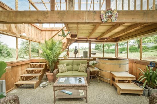 The interior of the Silverton cabin.