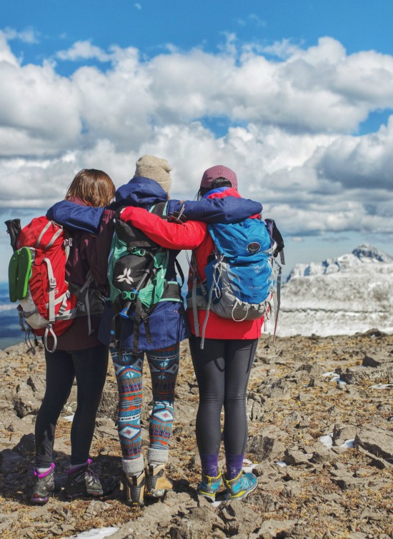 The gals of Hike365 check out the view!