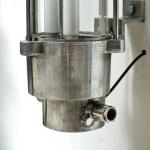 Fluo en fonte d'aluminium poli et verre transparent anciellitude