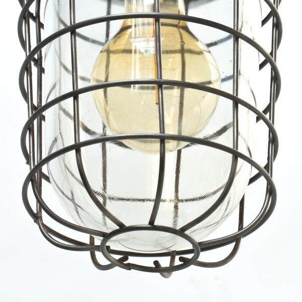 suspension globe à grille quadrillée anciellitude
