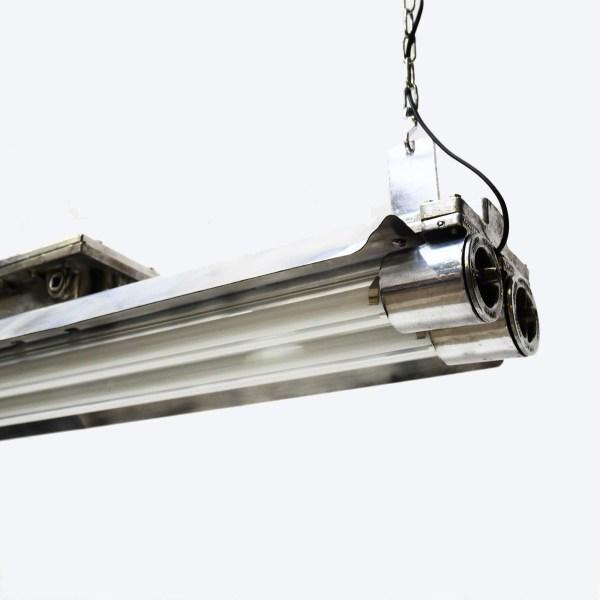 Double Fluo anti-déflagration grillagé en fonte d'aluminium XL anciellitude