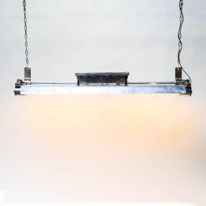. Double Explosion-Proof Fluorescent Light in Polished Cast Aluminium (XL) anciellitude