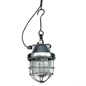 Old Industrial Ceiling Lamp « Big Hook » anciellitude