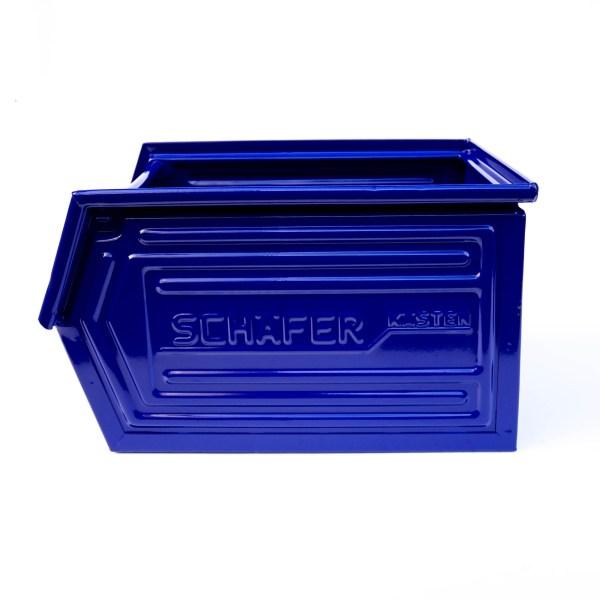 Caisse métallique « bleu » anciellitude