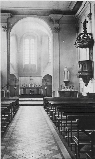 Chapelle du collège Sainte-Marie de Sierck après 1945