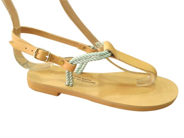 greek handmade leather sandals 38