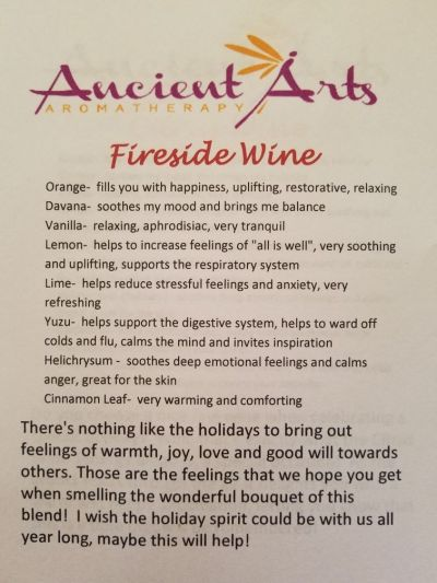 description fireside wine