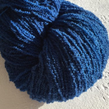 Boucle dyed in the fabulous Lapis Lazuli colourway!