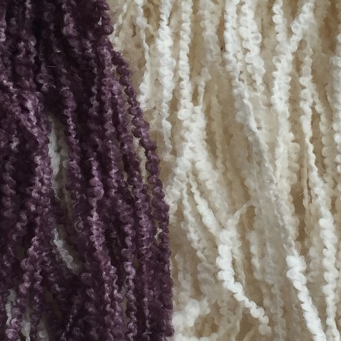 Dyed and undyed side by side