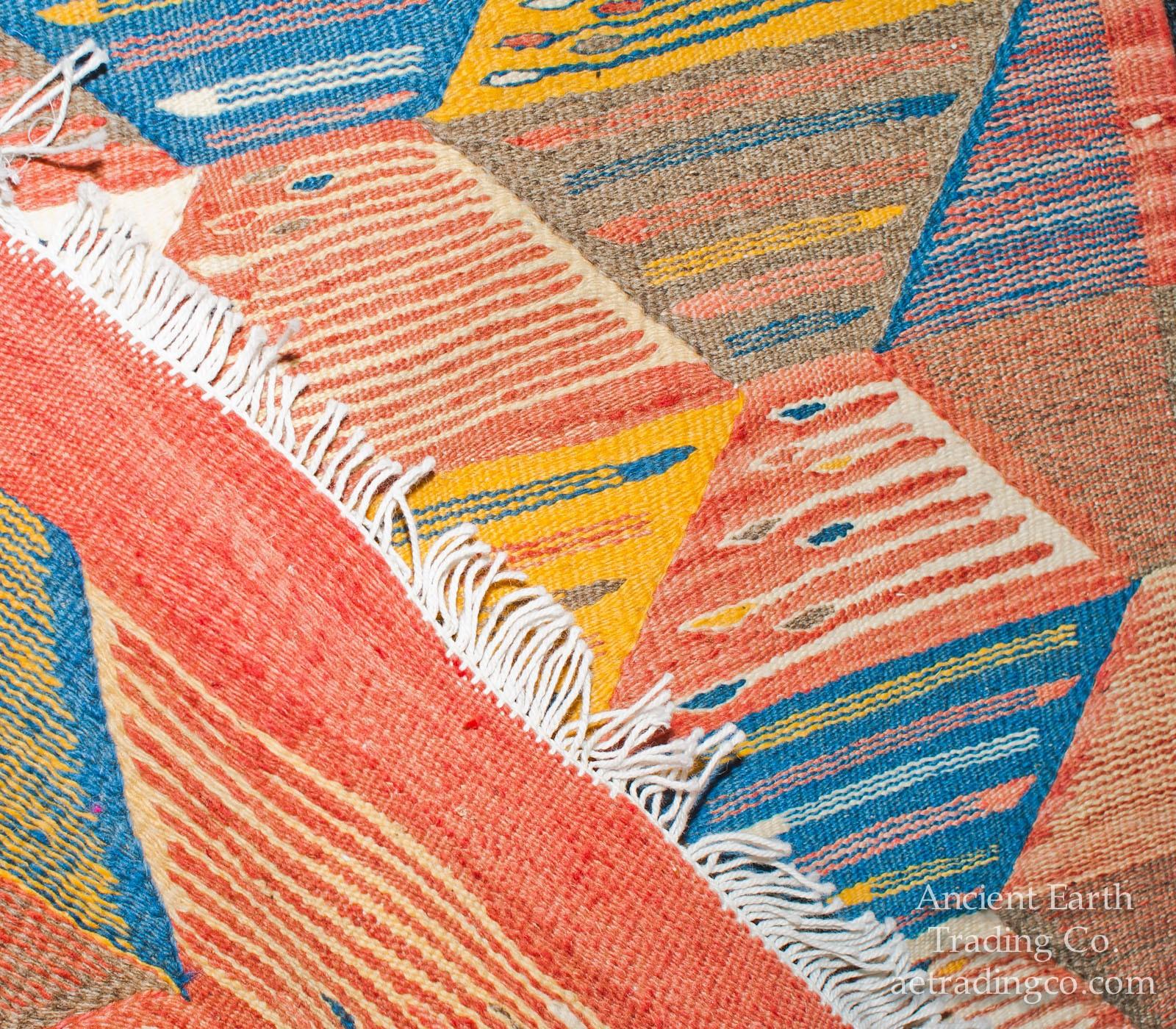 Colorful Runner Zanafi Tribal Reversible Wool Flatweave