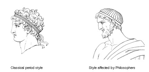 Men's hairstyles. Young men were generally clean-shaven