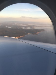 View from the air as we descend into Sydney, Australia.