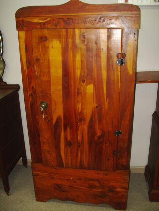 Antique Cedar Wardrobe Armoire