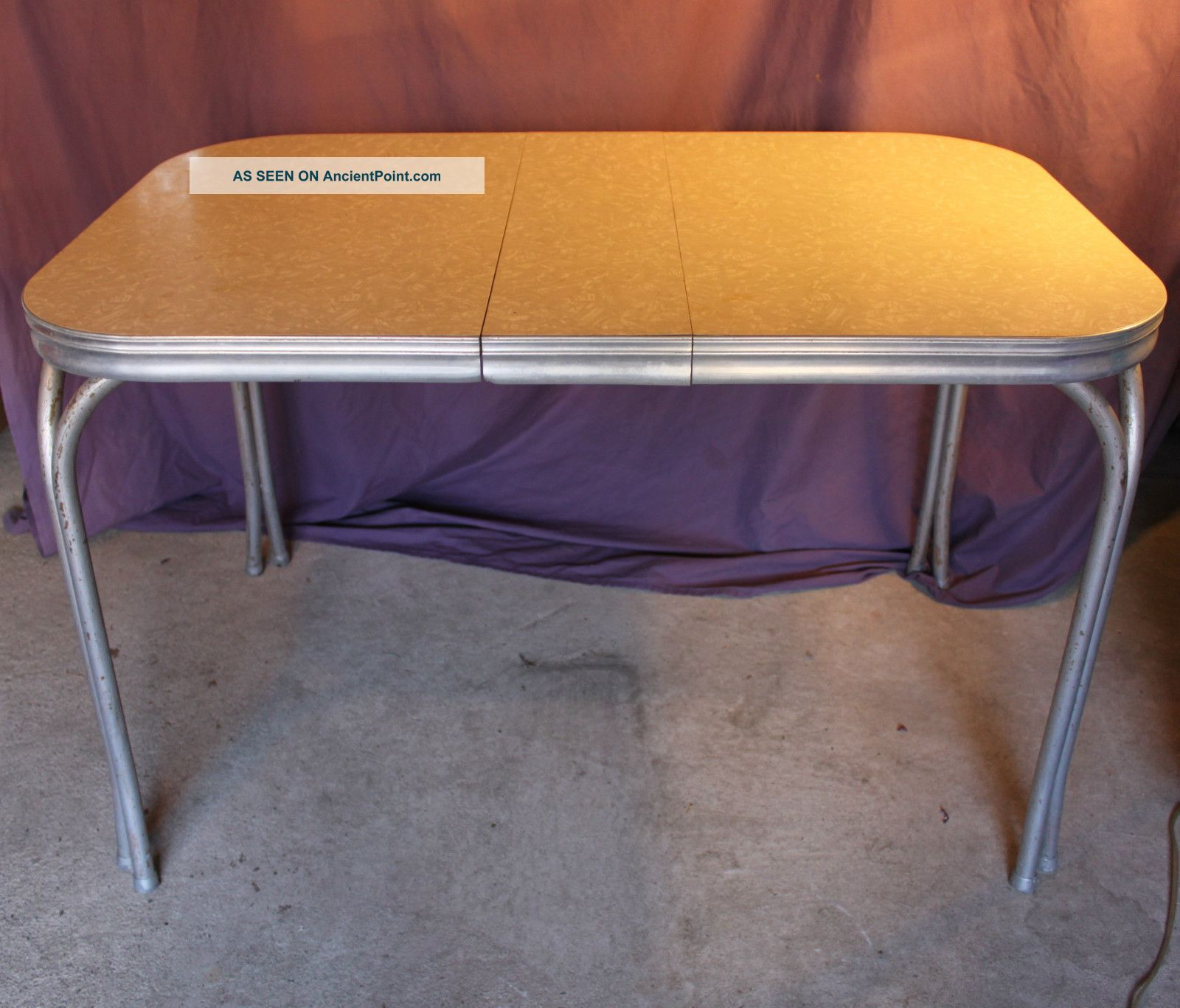 1950s formica kitchen table and chairs cabinet only