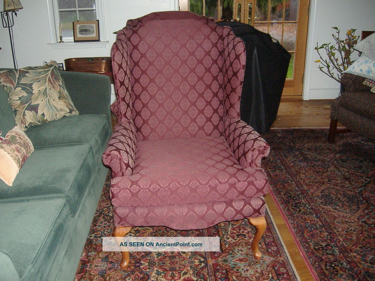 Sam Moore Chairs Pair Of Tall Living Room Queen Anne Wing Chairs By Sam Moore Best