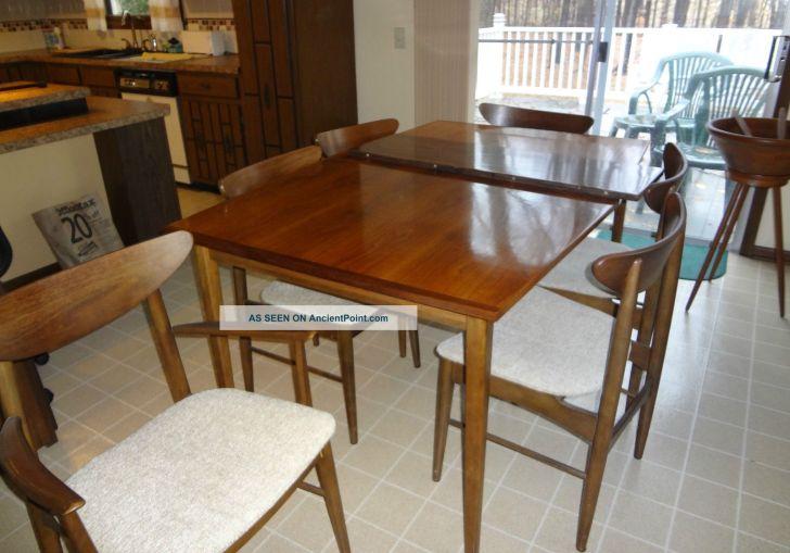 Mid Century Modern Metal Dining Table