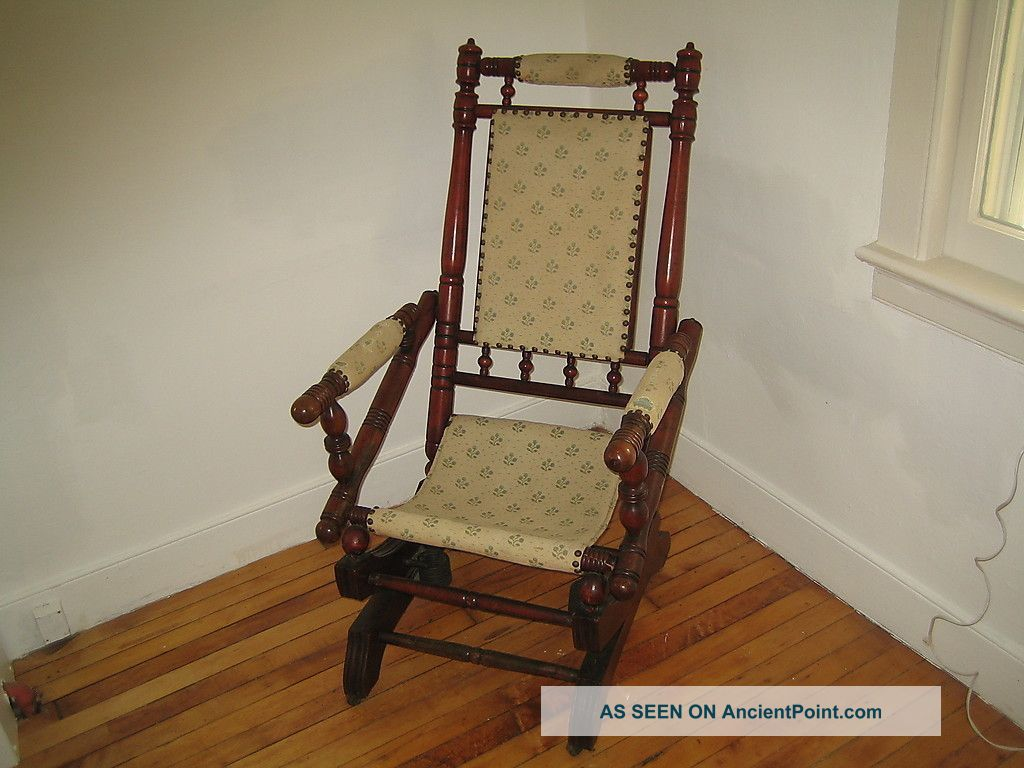 antique platform rocking chair with springs twin sleeper vintage chairs bill house plans