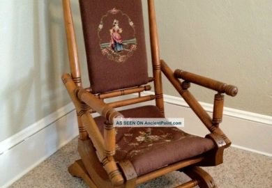 Antique Rocking Chair On Platform