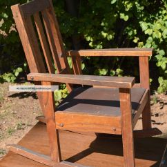 Oak Rocking Chair Plans Recliner Chairs On Wheels Mission Style Pub Furniture
