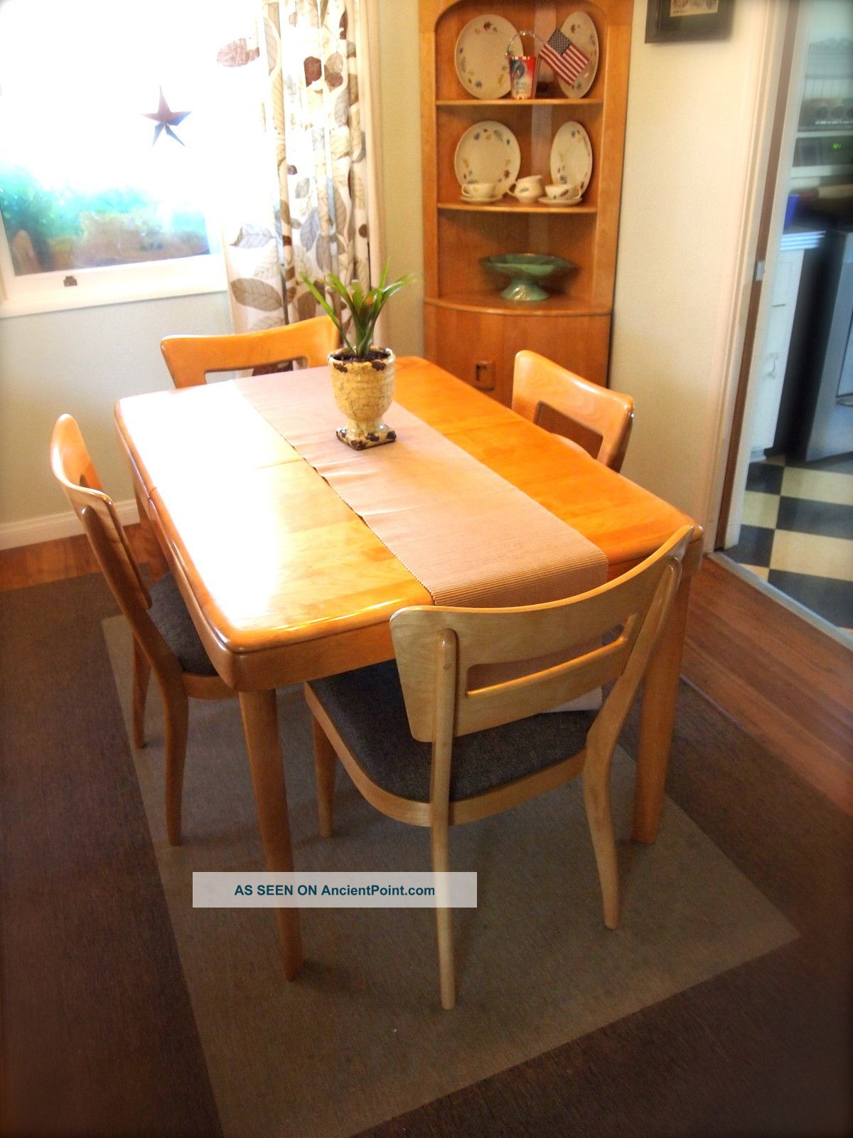 Heywood Wakefield Dining Chairs Vintage 1950s Heywood Wakefield Dining Table And Chairs Mid