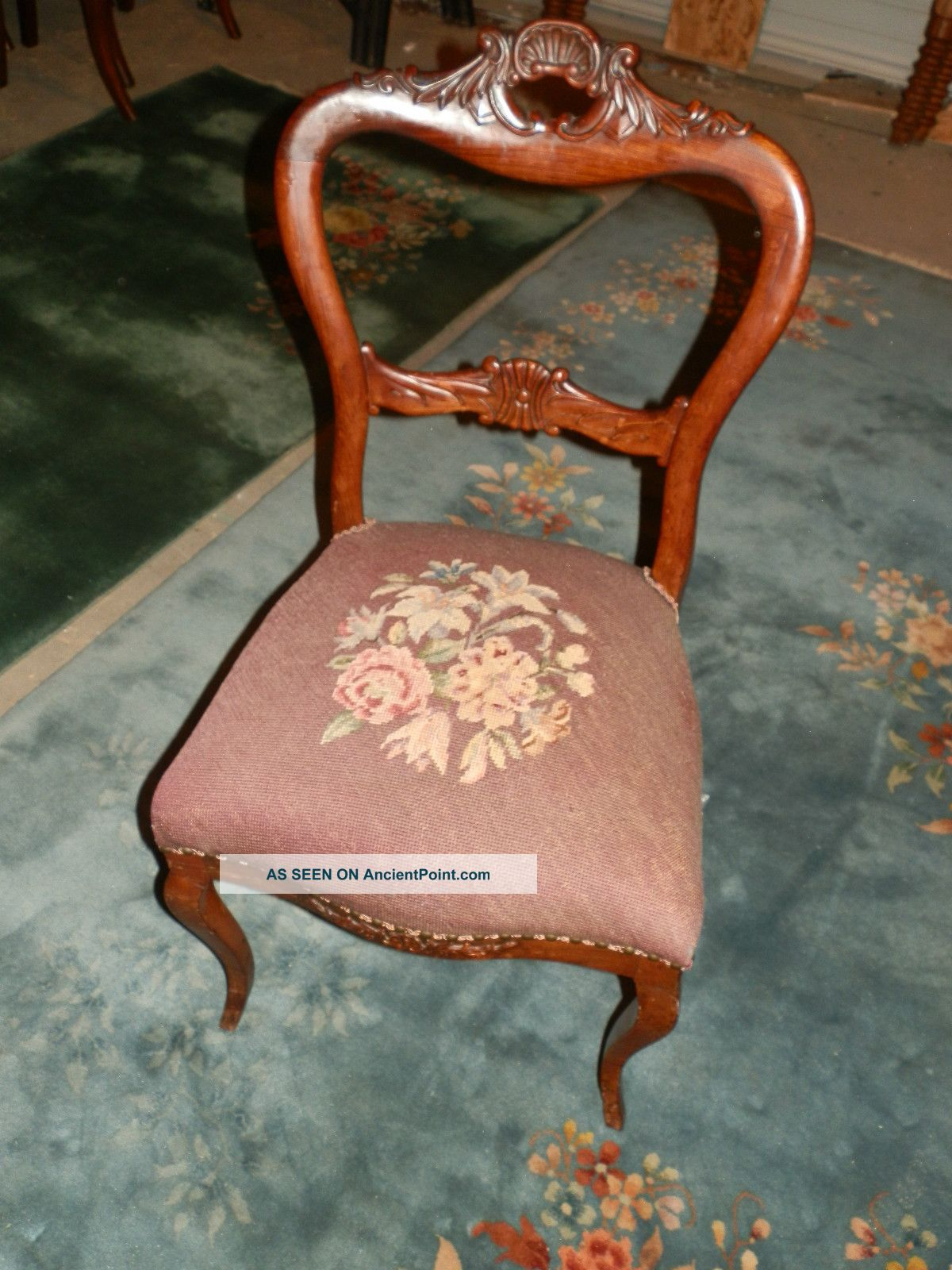 antique needlepoint chair costco gravity newhairstylesformen2014