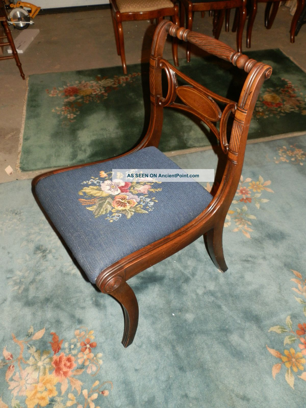 antique needlepoint chair caning repair cost newhairstylesformen2014
