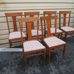 Vintage Oak Dining Chairs Foot Massage Chair Antique T Back Room Ideas