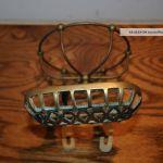Antique Victorian Brass Soap Dish Sponge Holder Claw Foot Bath Tub Bath Caddie