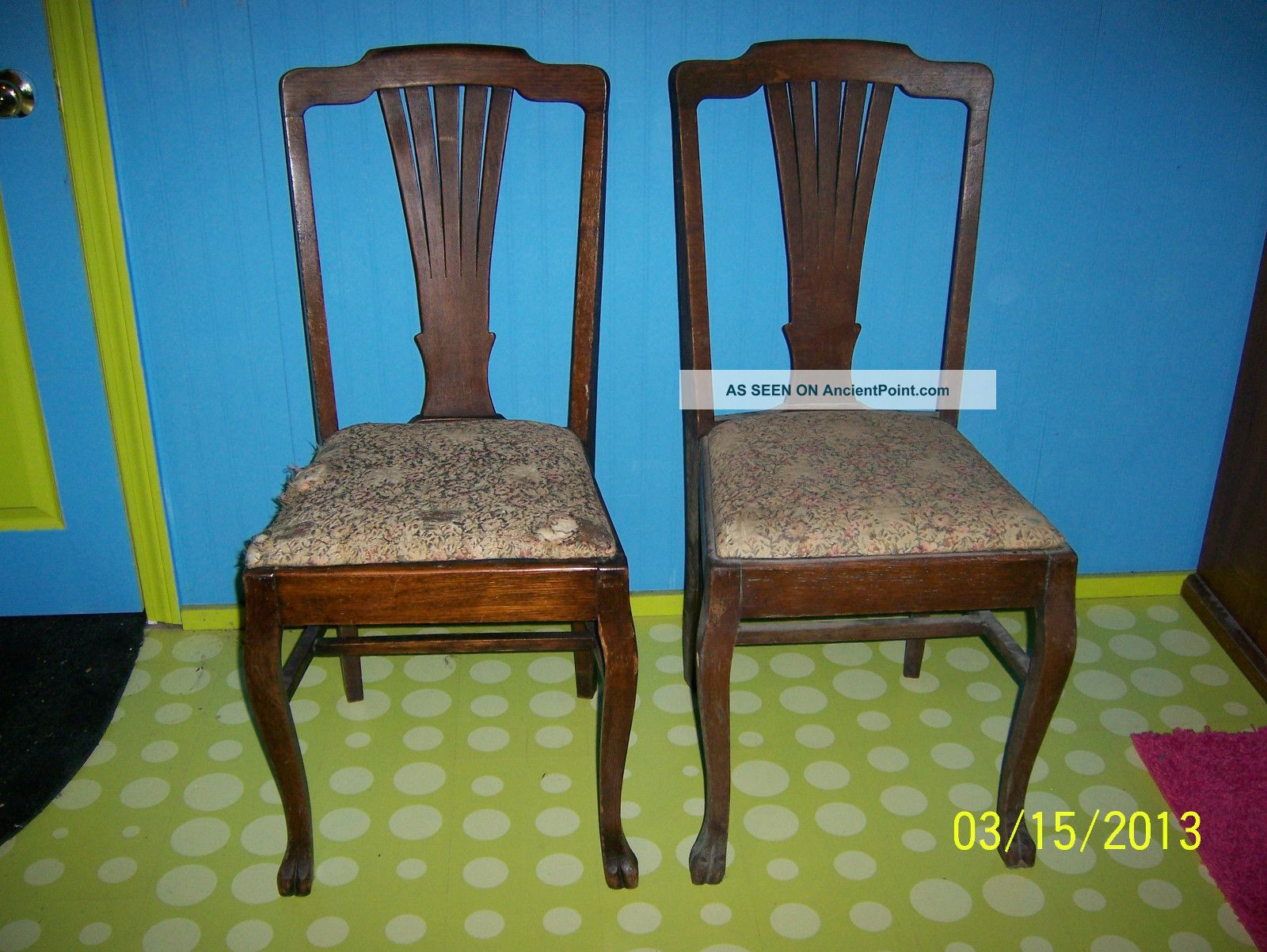tiger oak dining chairs kimball fit chair wood claw feet for furniture design ideas