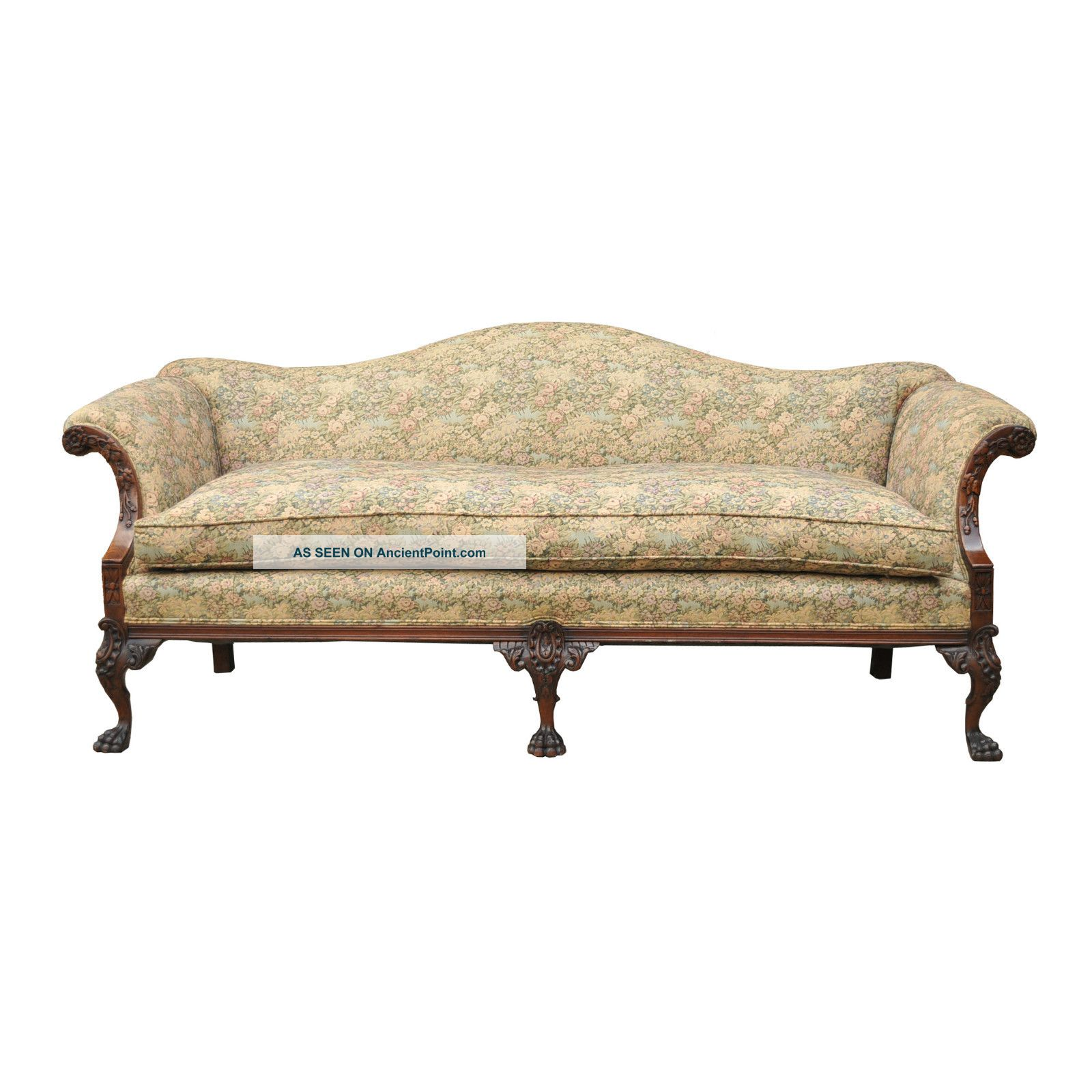 vintage camel back sofa 60s style antique chippendale home the honoroak