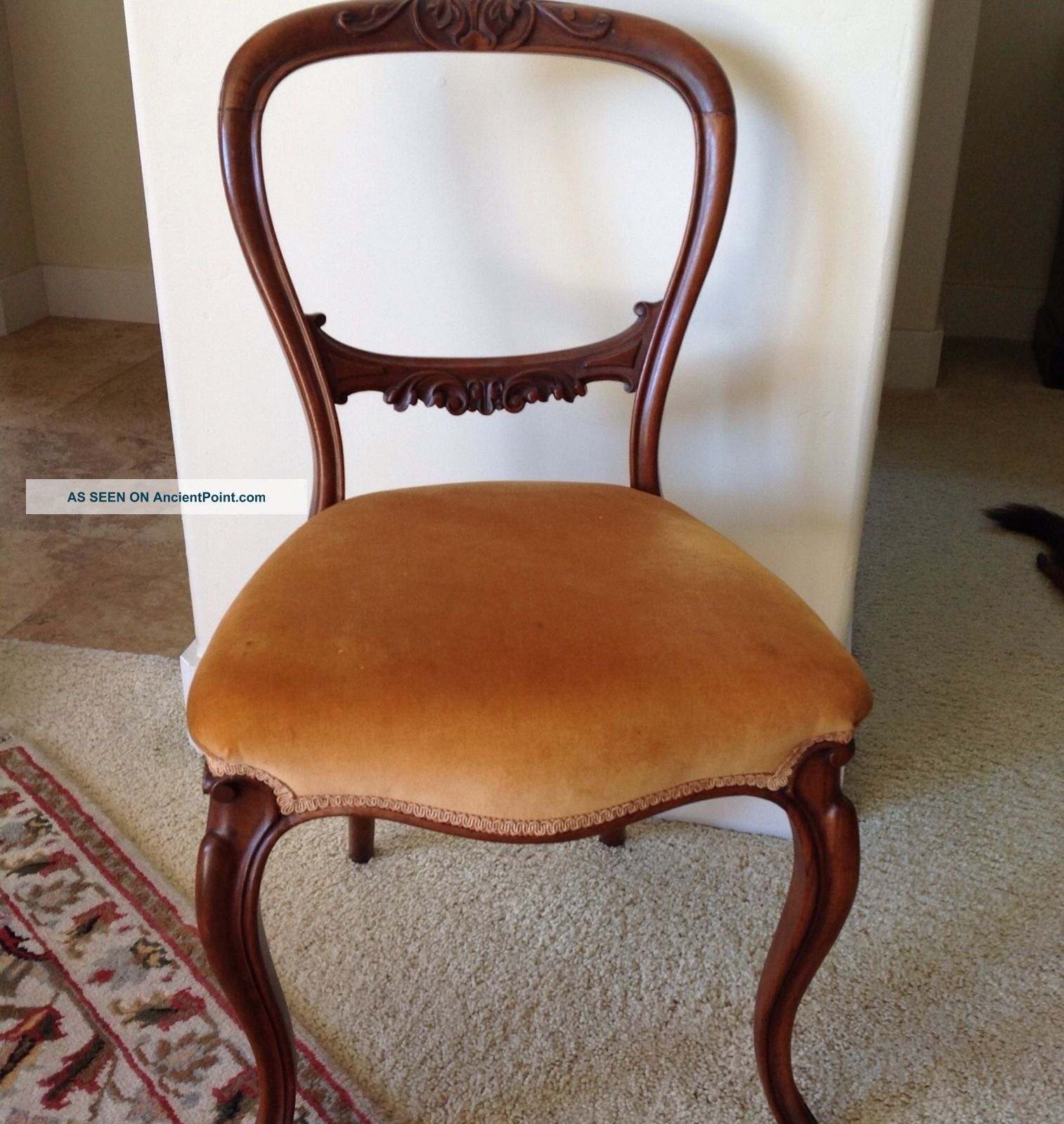 round wooden chair used high antique back chairs furniture