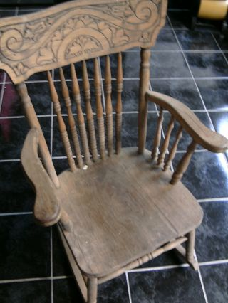old fold up rocking chair armless upholstered slipcover antiques