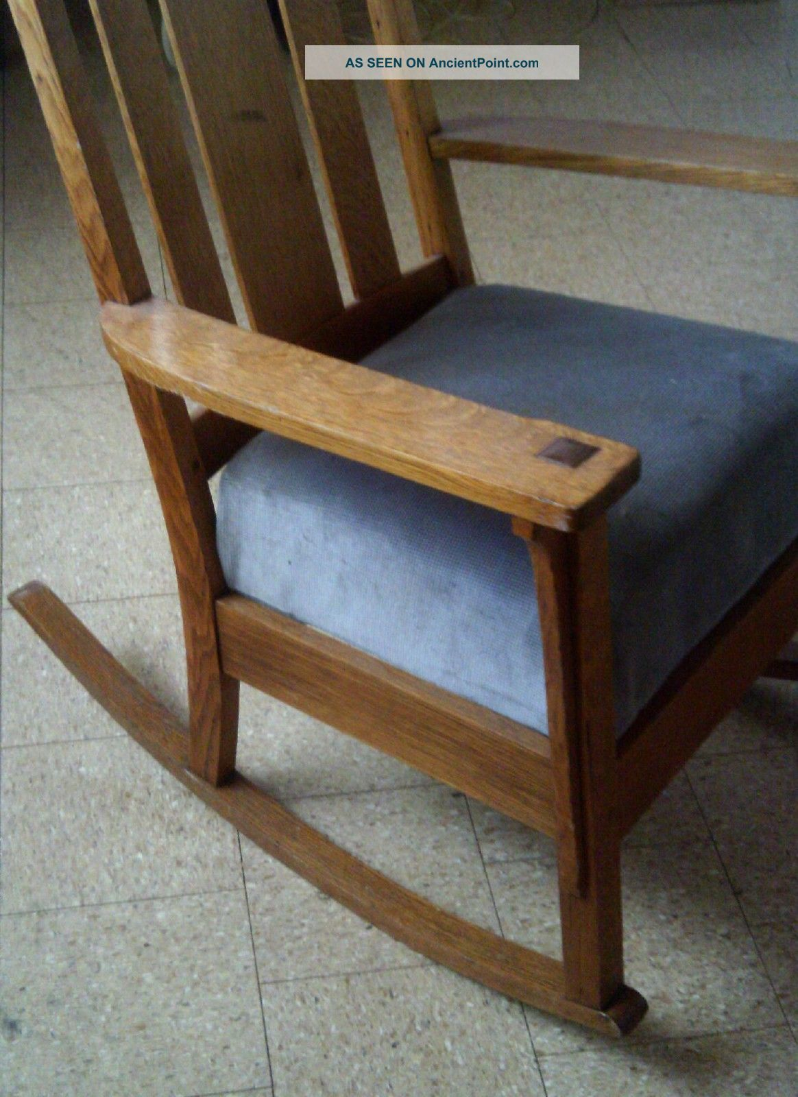 antique wooden rocking chairs casters for office on hardwood floor oak chair furniture