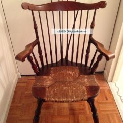 Antique Rocking Chair Identification Kids With Ottoman Rush Seat Chairs | Furniture