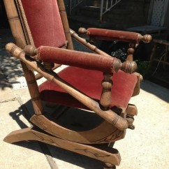 Antique Platform Rocking Chair With Springs Ikea Sofas And Chairs Vintage Rocker Spring Primitive Steampunk Era