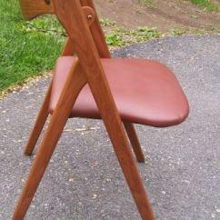 Coronet Folding Chairs Stool Chair Hs Code Antiques Rare Cane Wood Back Mid Century Wonderfold Norquist Mcm Photo