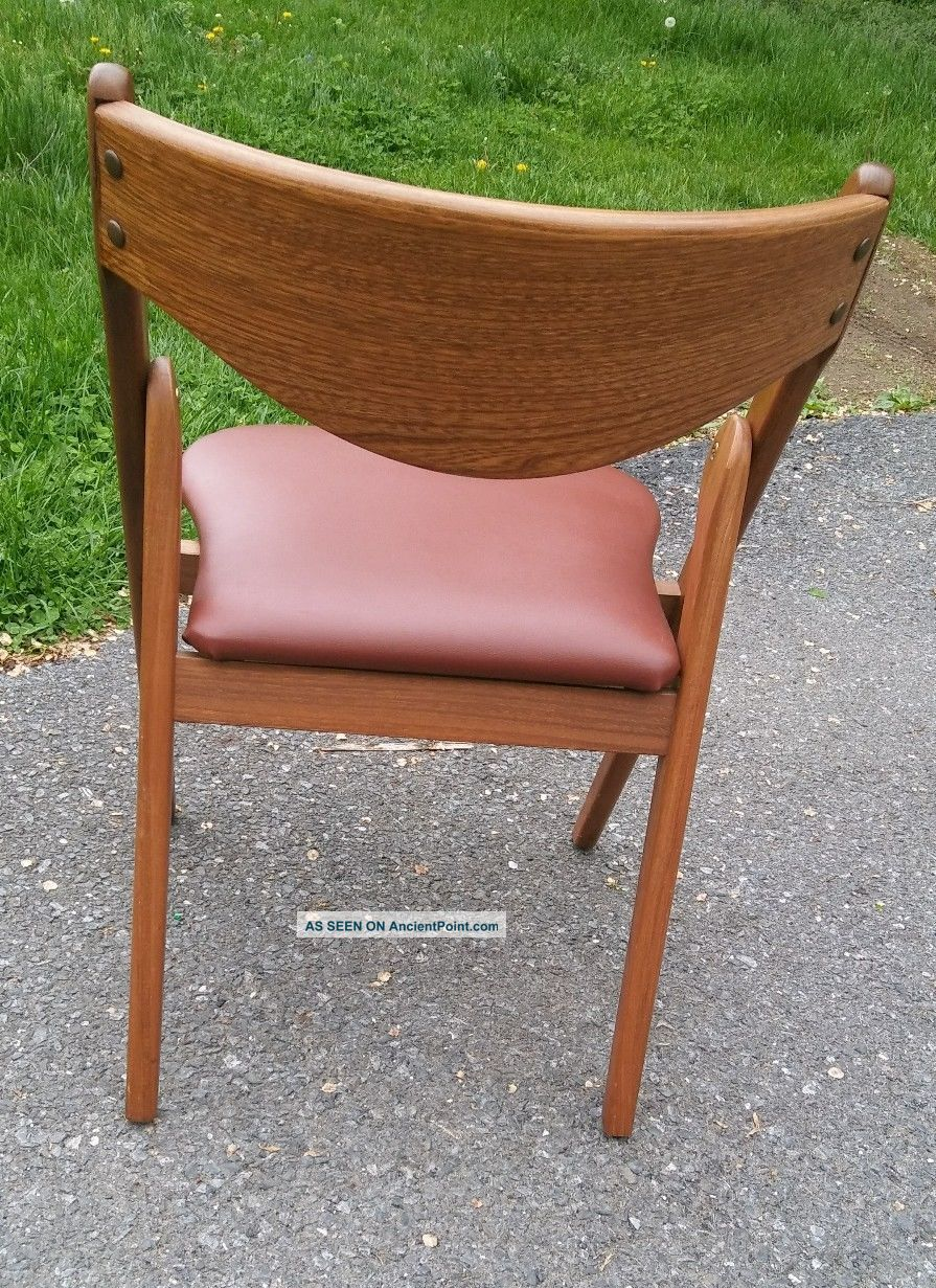 coronet folding chairs kmart table and review rare cane wood back mid century wonderfold norquist mcm