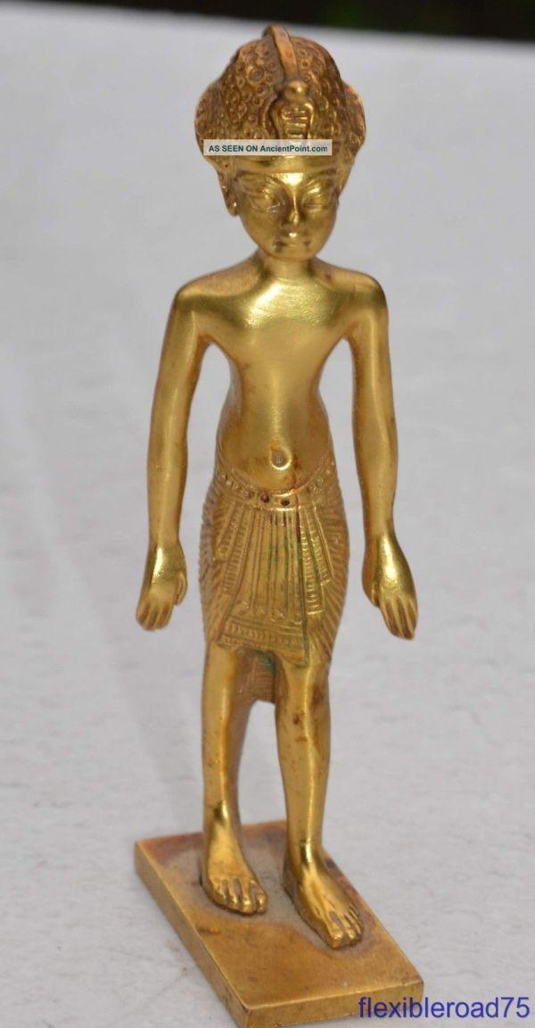 1976 King Tut Brass Statue Mma Metropolitan Museum Of Art