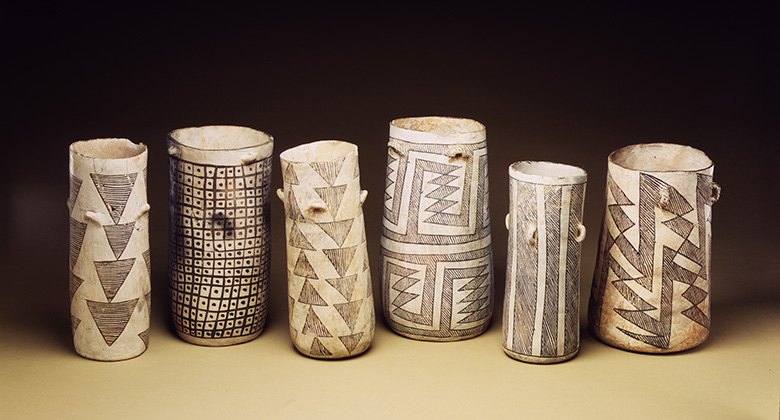 A collection of Chaco cylinders, image #3521, AMNH Library