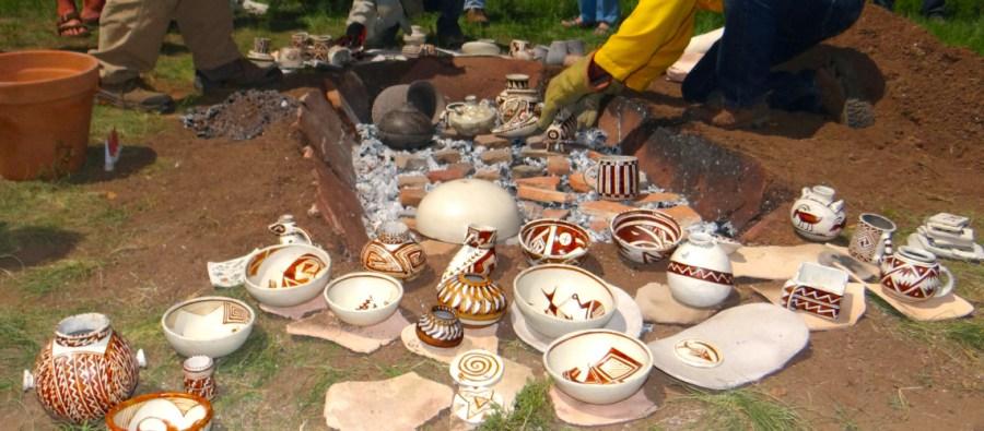 anasazi pottery firing
