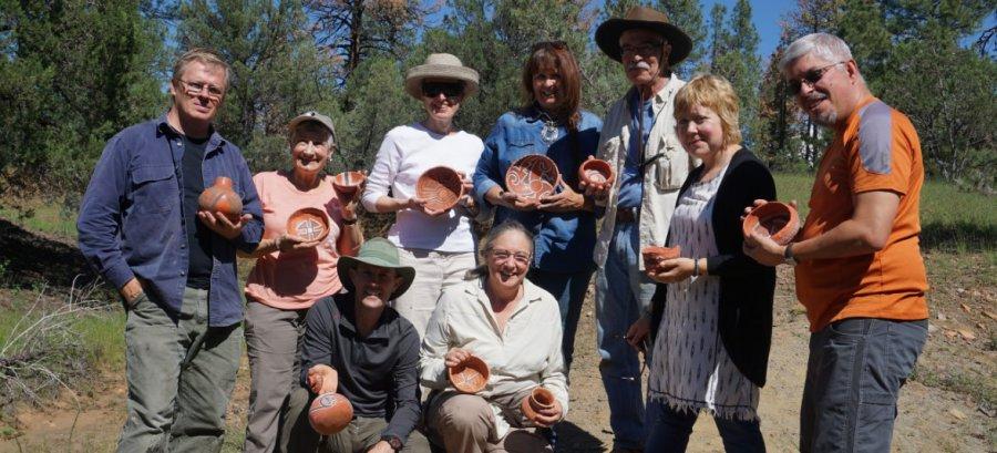 Last year's Arizona pottery workshop participants