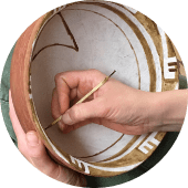 hand painting replica pottery