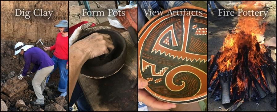 Southwest coil pottery class