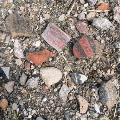 Ancient Salado and Mogollon pottery sherds