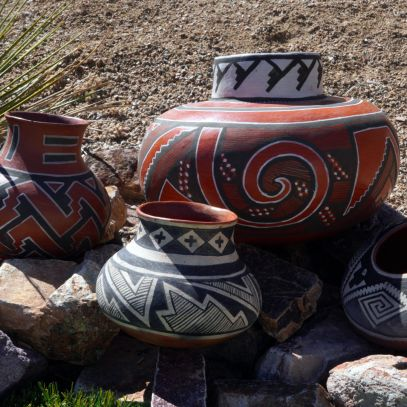 Ancient pottery replicas by Andy Ward