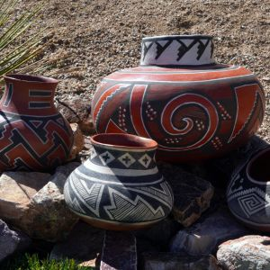 Primitive pottery need not be crude or plain